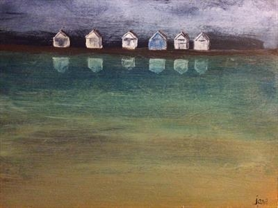 Beach Hut Reflections