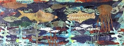 Fish Collage (sold but prints available)