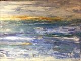Abstract Seascape by Jane Watson, Painting, Acrylic on canvas