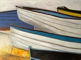 Boat Park by Jane Watson, Painting, Acrylic on canvas