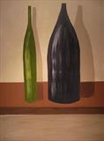 Bottles by Jane's Art, Painting, Acrylic on canvas