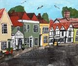 Dedham High Street by Jane Watson, Painting, Collage
