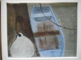 Dinghy by Jane Watson, Painting, Acrylic on board