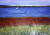 East Mersea Seascape by Jane Watson, Painting, Acrylic on board