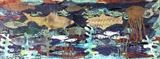 Fish Collage (sold but prints available) by Jane Watson, Painting, Collage