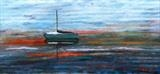 Green Dinghy by Jane Watson, Painting, Acrylic on board