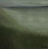Green Seascape by Jane Watson, Painting, Oil on canvas