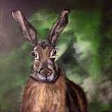 Hare by Jane Watson, Painting, Acrylic on canvas