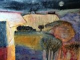 House on the Hill by Jane Watson, Painting, Acrylic on board