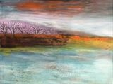 Landscape Painting by Jane Watson, Painting, Acrylic on canvas