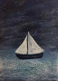 Little White Sails by Jane Watson, Painting, Acrylic on board