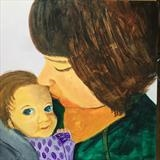 Mother and Child by Jane Watson, Painting, Acrylic on board