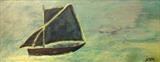 Old Sailing Boat by Jane Watson, Painting, Acrylic on canvas