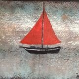 Red Sails by Jane Watson, Artist Print, printed card