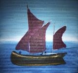 Sailing Barge by Jane Watson, Painting, Acrylic on board