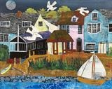 Sailing Club Collage by Jane Watson, Painting, Collage
