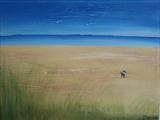 Sandy Beach by Jane Watson, Painting, Acrylic on canvas