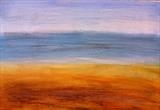 Shimmering Seascape by Jane Watson, Painting, Acrylic on board