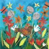 Spring Collage by Jane Watson, Painting, Collage
