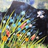 Spring Flowers by Jane Watson, Painting, Collage