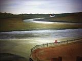 The Roman River, Wivenhoe by Jane Watson, Painting, Acrylic on board