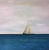 White Sails by Jane Watson, Painting, Acrylic on canvas