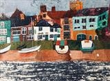 Wivenhoe Collage - A4 mounted prints available £30 by Jane Watson, Painting, Collage